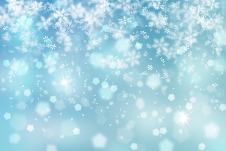 Artistic blue snowflake fall with sparkle illustration background.