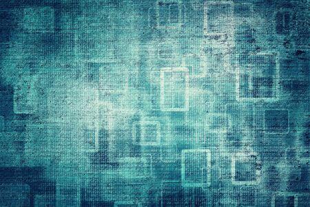 Grunge resumen bokeh turquesa oscuro color de n�meros binarios concepto copia espacio de fondo. Ilustraci�n de fondo.