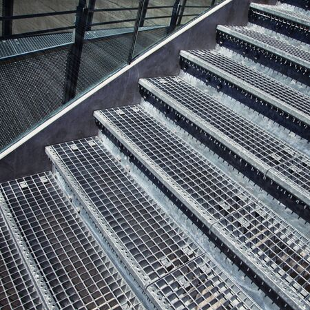 staircase structure: Modern staircase structure details with glass. Stock Photo