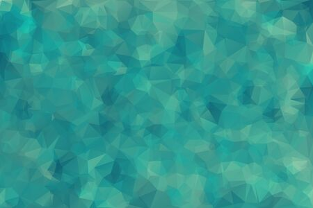 Abstract blue green (olive) color triangle geometrical background (fractal) illustration.