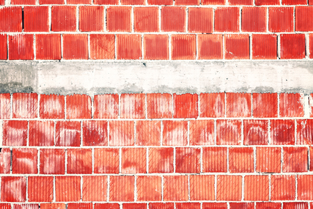 Abstract rough red brick wall with place for text.