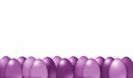 viola: Simple viola color tone Easter eggs illustration background isolated on white. Stock Photo