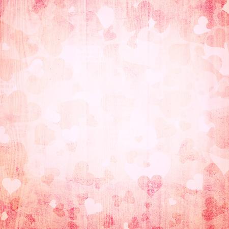 romantyczny: Piękne tła retro czerwony kształt serca Valentines dzień ilustracji na jasnym tle z miejsca na tekst.