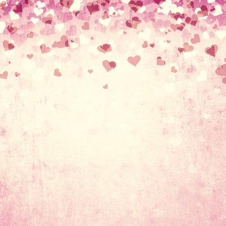 fond de texte: couleur rouge Grunge Day Hearts illustration de fond de Saint-Valentin avec place pour le texte.