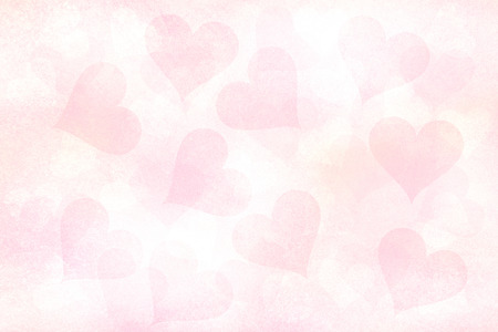 Lovely soft grunge and gently red pastel color (Rose quartz) Valentines Day Hearts wrapping paper illustration background.