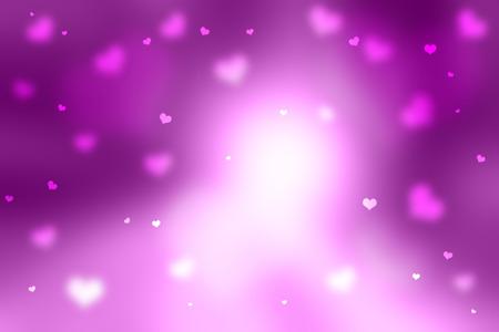 Shiny violet color Valentines Day Heart shapes illustration background. Lovely Valentine Holidays copy space background.