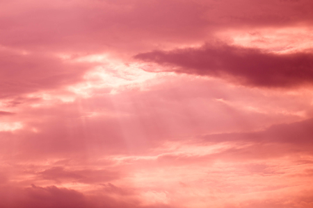 sunligh: Beautiful sky with pink and red clouds.