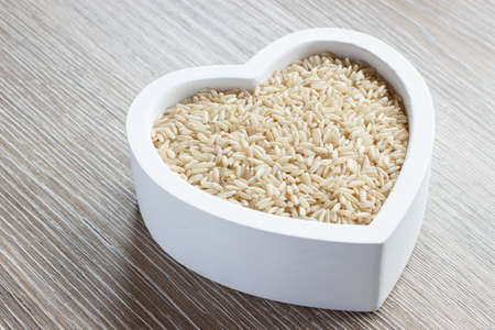 filled: heart filled with brown rice