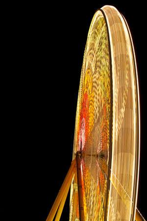 illuminati: illuminato ferris wheel di notte  Archivio Fotografico