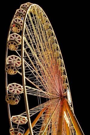 enlightened ferris wheel by night photo