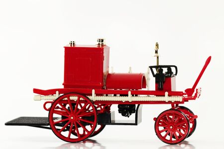 modell: one modell fire fighting vehicle on white background