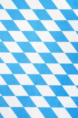 blue and white bavarian rhombus textile texture or background