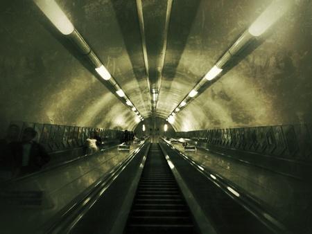 subway entrance: Subway entrance to Victoria station Stock Photo
