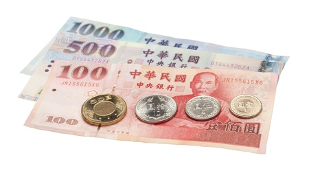 The most commonly coins and notes used in Taiwan.