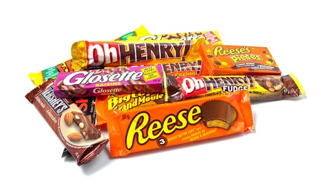 hersheys: Toronto, Canada - May 8, 2012: This is a studio shot of a variety of Hershey