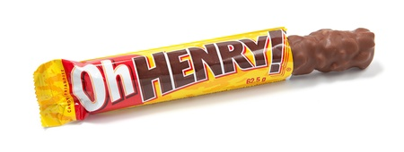 hershey's: Toronto, Canada - May 10, 2012: This is a studio shot of Oh Henry! candy made by The Hershey Company isolated on a white background. Editorial