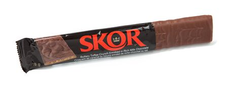 hersheys: Toronto, Canada - May 10, 2012: This is a studio shot of Skor toffee candy made by Hershey