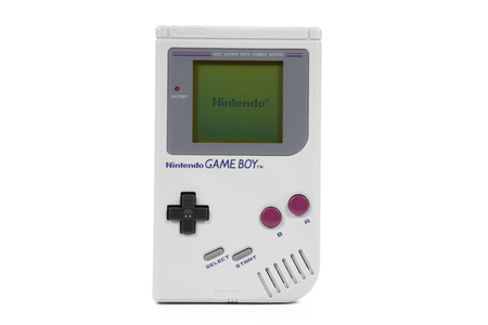 Taipei, Taiwan - February 18, 2018: A studio shot of a Nintendo Gameboy system isolated on a white background. Editorial