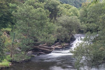 The Afon Ogwen flowing through the Snowdonia National Park.