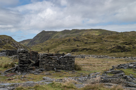 The abandoned Cwmorthin Slate Quarry at Blaenau Ffestiniog in Snowdonia, Wales