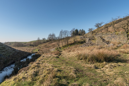 A view of Cheesden brook and valley from Cheesden Lum Mill, near Haywood, Greater Manchester