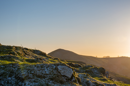 Sunrise on High Wheeldon in the Peak District National Park.