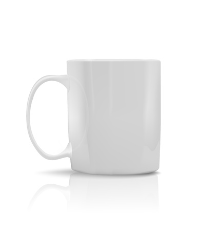 photorealistic white cup photo