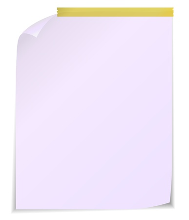 White post it notes isolated on white background