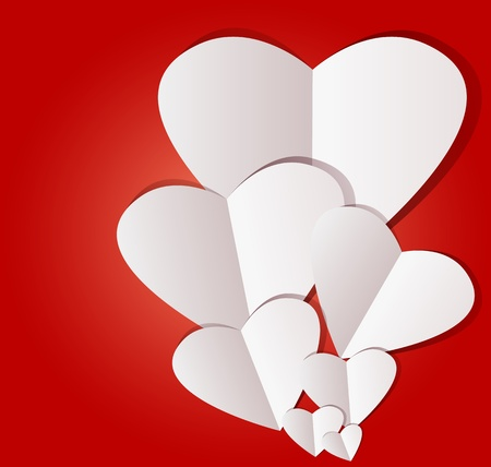Design Template - Heart for Valentines Day Background Vector
