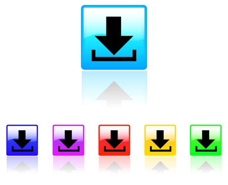 white bacground: Download button on white bacground Illustration