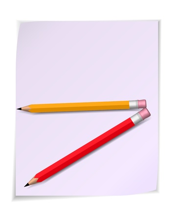 pensil: Paper scroll with pensil. Vector illustration Illustration