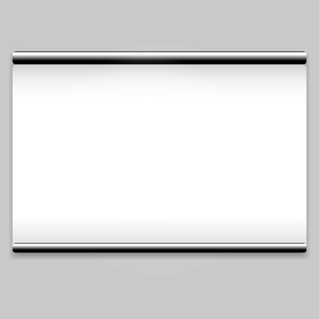 White screen projector clean background Vector
