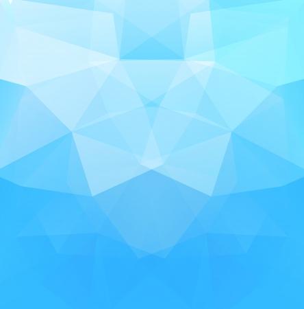Polygonal background blue color