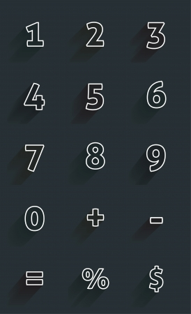 Calculator  mathematics numbers Vector