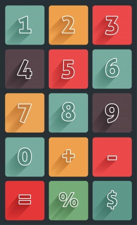 number button: Calculator  mathematics numbers Illustration