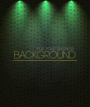 spot lights: Spotlight background green. Business background