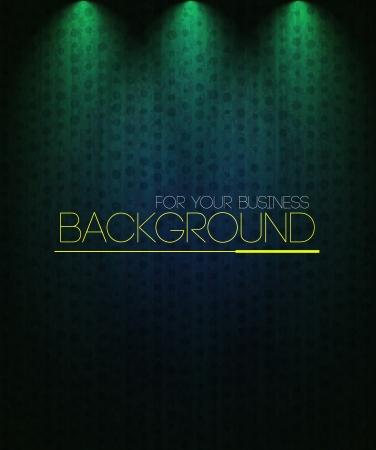 Spotlight background green. Business background Vector