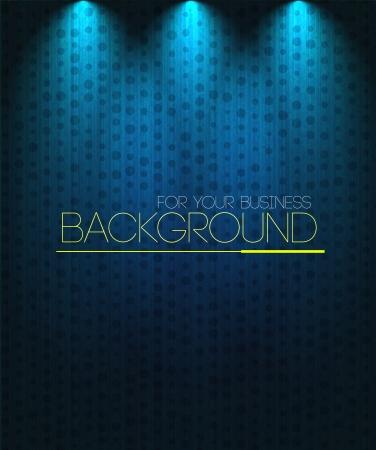 stage lights: Spotlight background blue. Business background