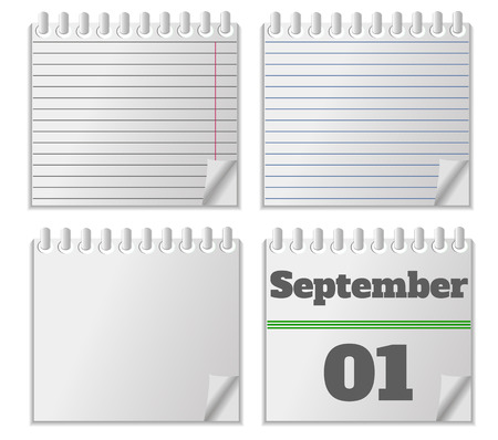 Notebook with calendar Vector