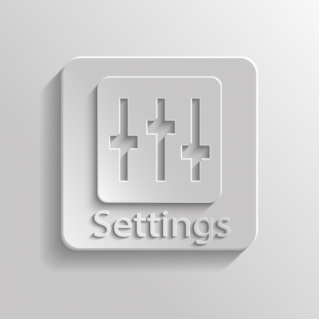 Icon gray setting with shadow Vector