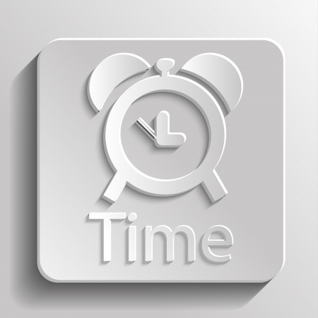 Icon gray time with shadow Vector