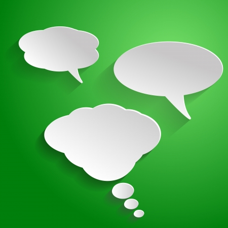 Speech bubble on green background Vector