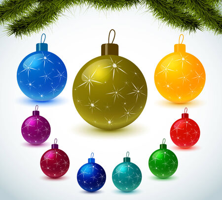 Christmas colorful balls Stock Vector - 23826593