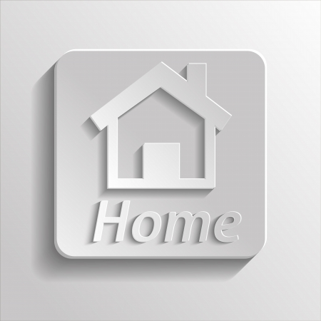App icon gray home with shadow Vector