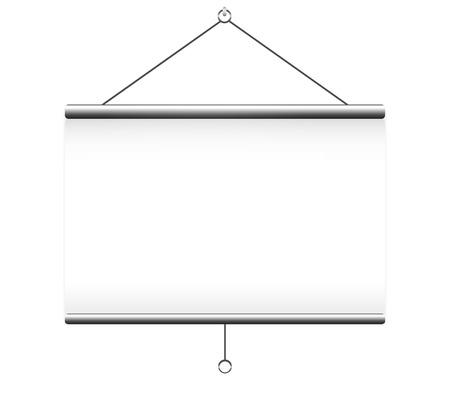 Projectiescherm op witte achtergrond Stock Illustratie