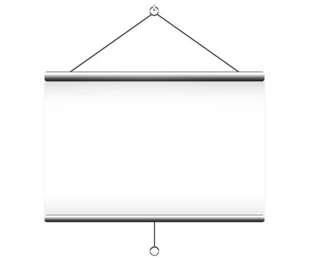projector screen: Projector screen on white background
