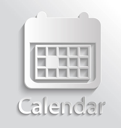 App Icon gray Calendar with Shadow Vector