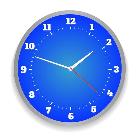 office clock: Ronda azul reloj de la oficina