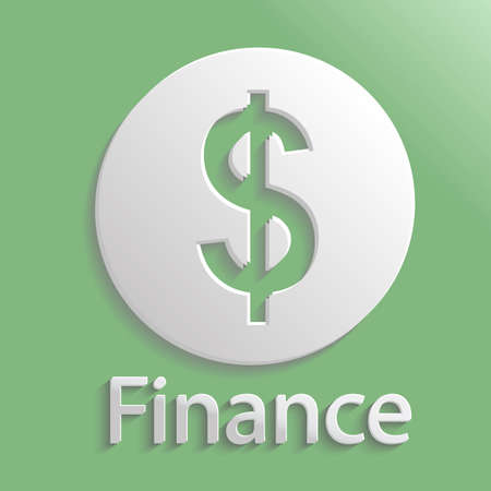 Icon gray finance with shadow Vector
