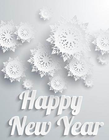 Frohes Neues Jahr Hintergrund mit Schneeflocken